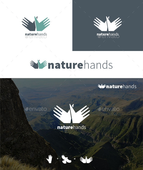 Nature Hands Logo - Logo Templates