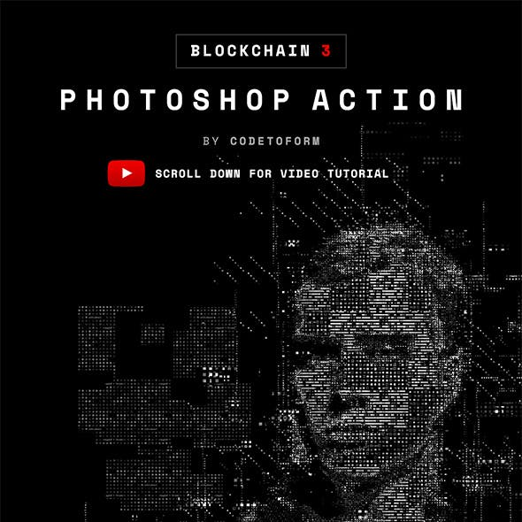 Blockchain 3 Photoshop Action