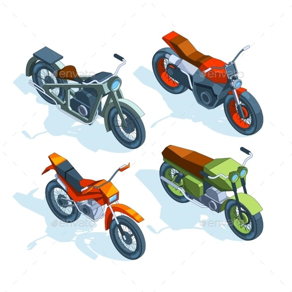 Sport Bikes Isometric - Man-made Objects Objects