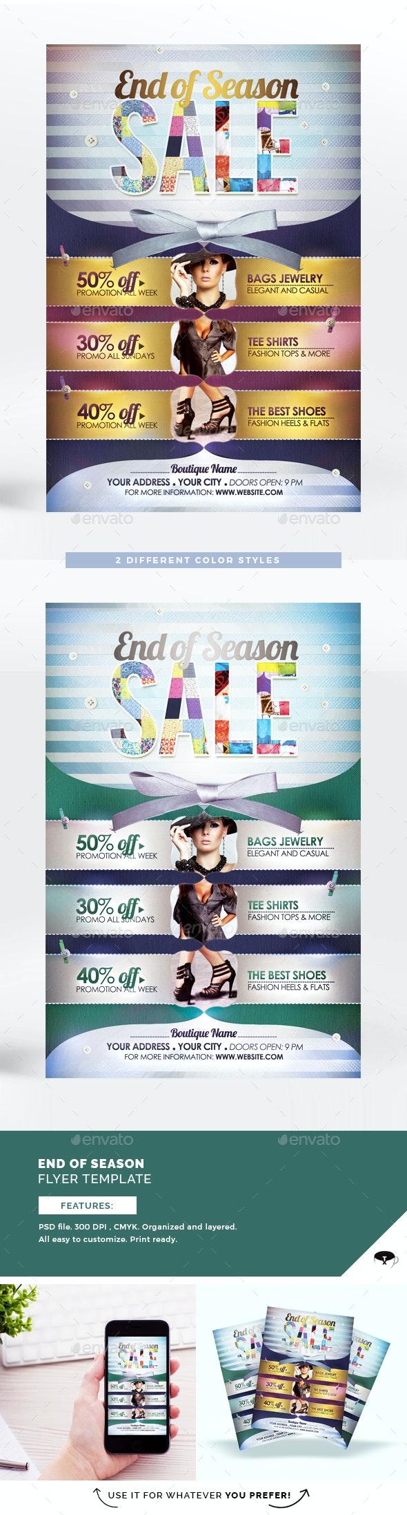 End of Season Sale Flyer Template - Commerce Flyers