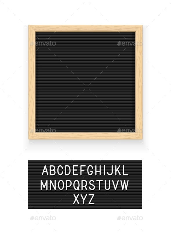 Black Letter Board - Miscellaneous Vectors