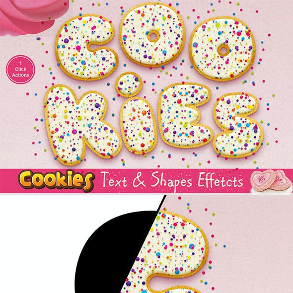 Cookies Text Effect Photoshop Action