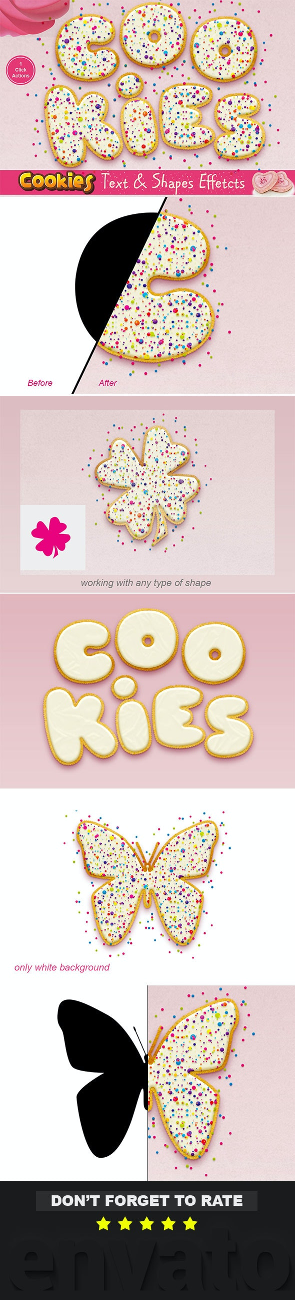 Cookies Text Effect Photoshop Action - Text Effects Actions