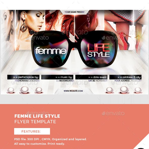 Femme Lifestyle Flyer Template