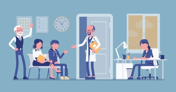 Patients Waiting for Doctor Appointment - Health/Medicine Conceptual