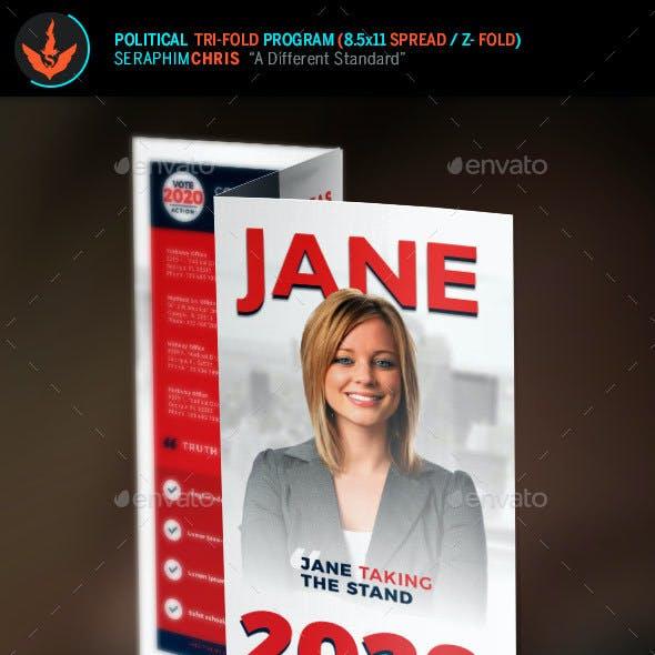 Jane Political Tri-Fold Brochure Template 1