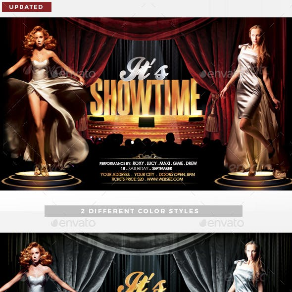 It's Showtime Flyer Template