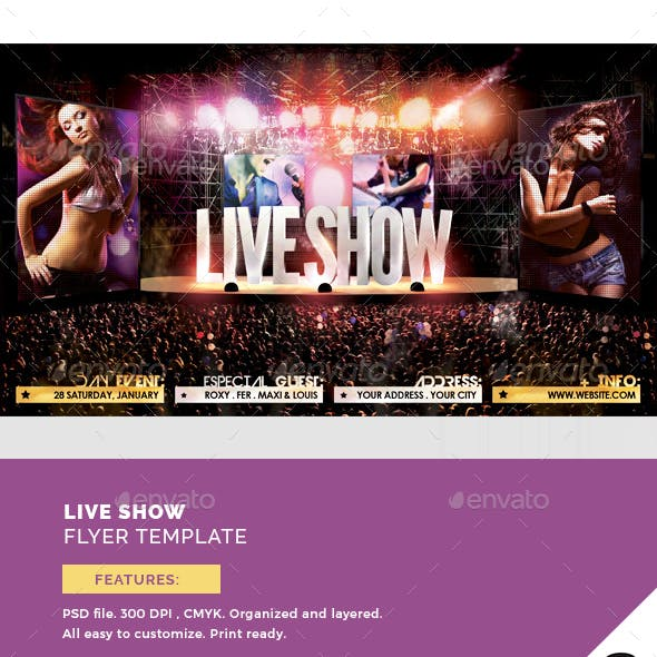 Live Show Flyer Template