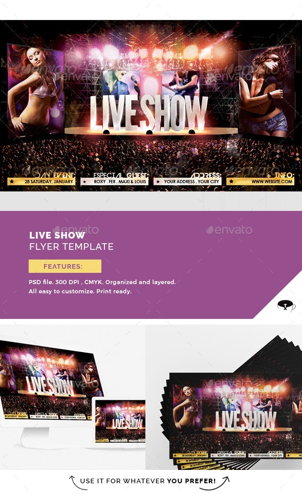 Live Show Flyer Template - Events Flyers