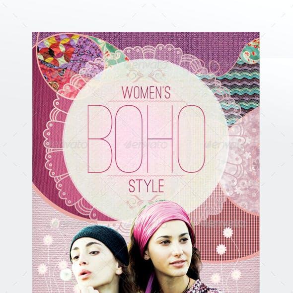 Women´s Boho Style Flyer Template