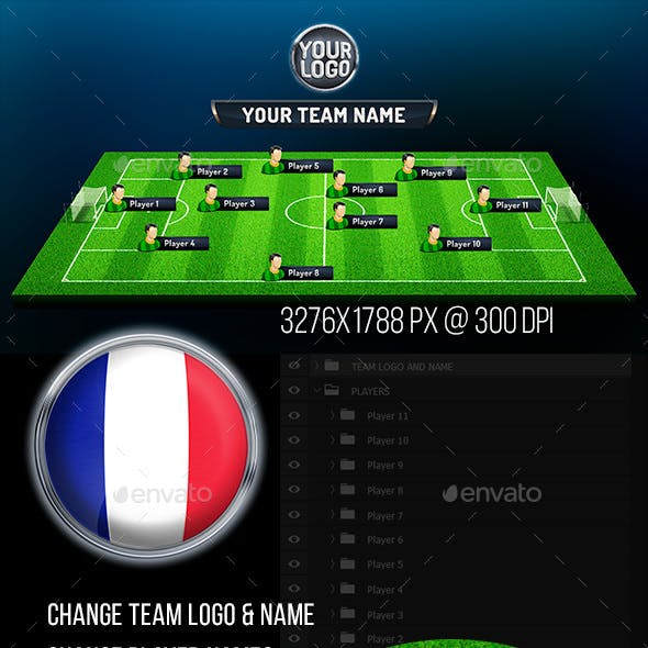 First Eleven Soccer Photoshop Template