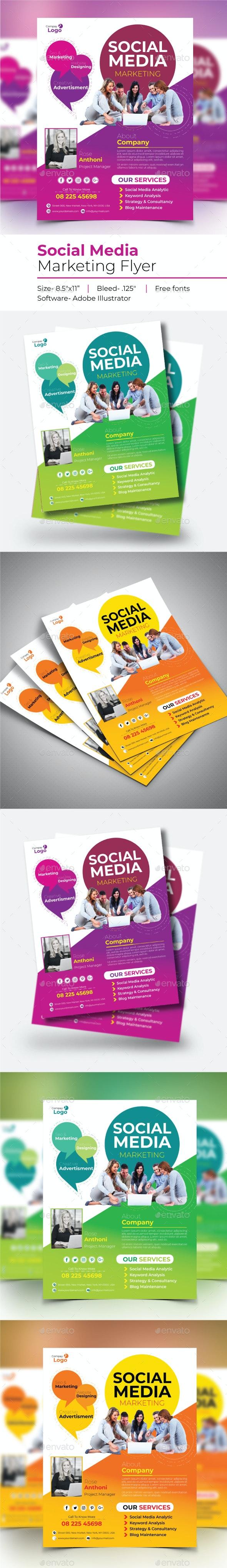 Social Media Marketing Flyer - Flyers Print Templates