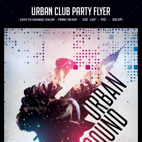 Urban Club Party Flyer