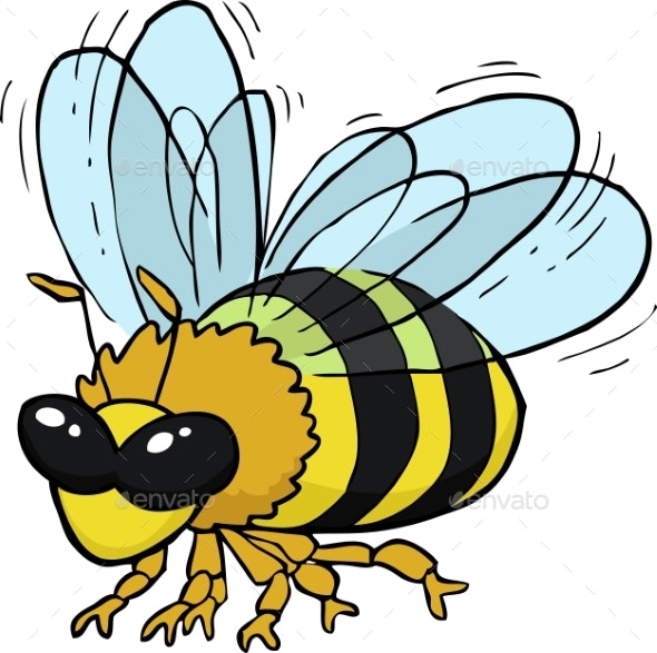 Cartoon Flying Bee - Animals Characters