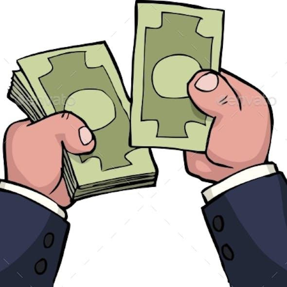 Hand Count Money