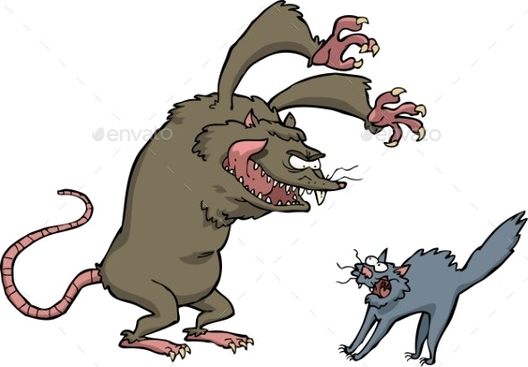Rat Scares the Cat - Animals Characters