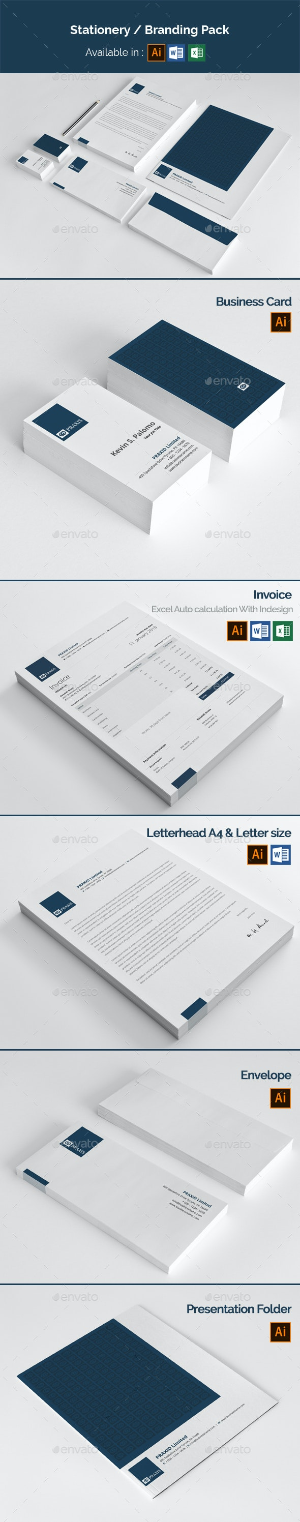 Stationery Branding Pack - Stationery Print Templates