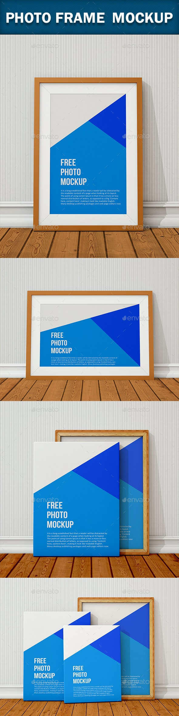 Photo Frame Mockup - Product Mock-Ups Graphics