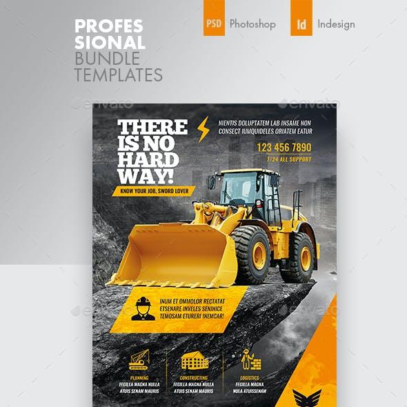 Construction Flyer Bundle Templates