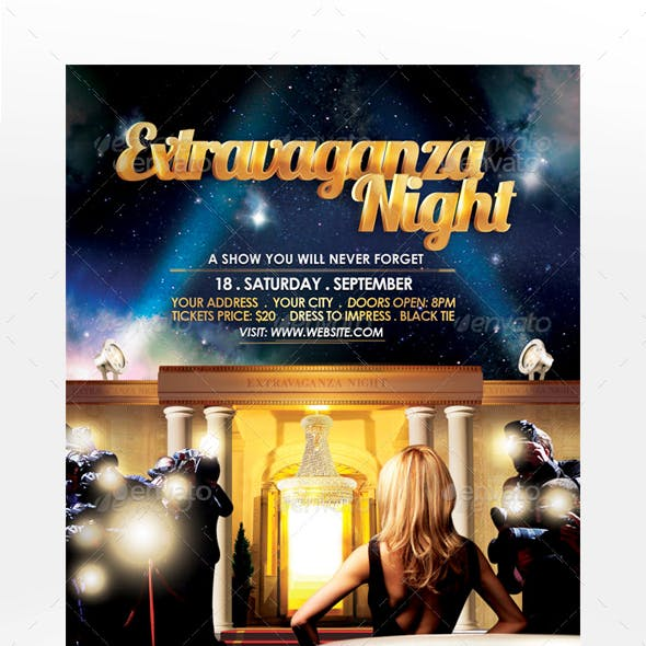 Extravaganza Night Flyer Template