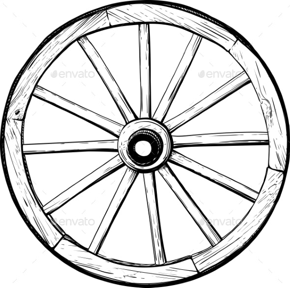 Old Wooden Wheel - Man-made Objects Objects