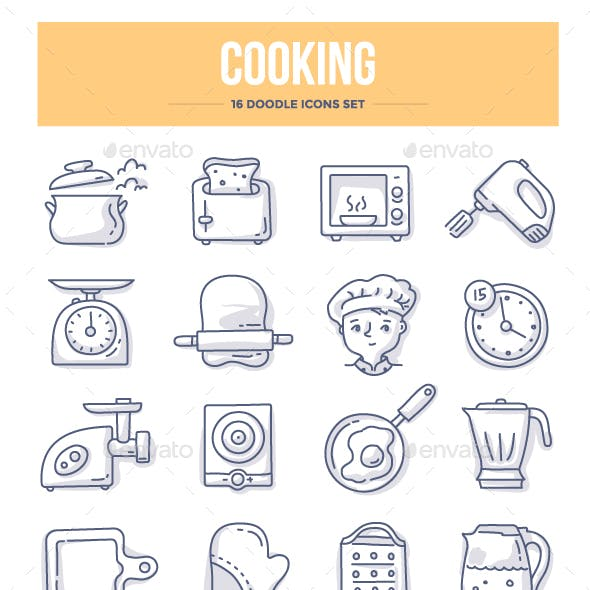 Cooking Doodle Icons
