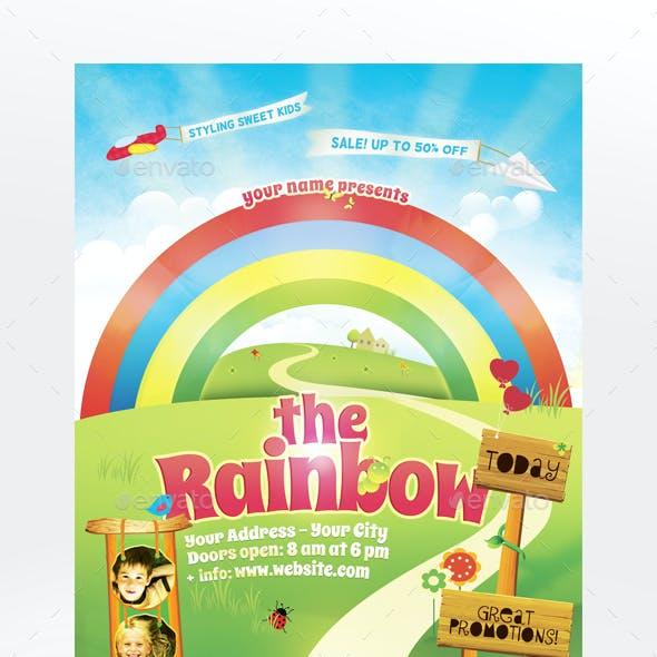 The Rainbow Flyer Template