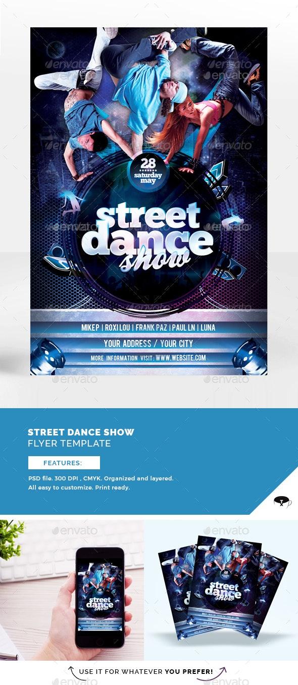 Street Dance Show Flyer Template - Flyers Print Templates