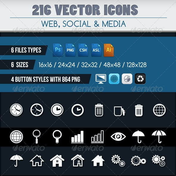 224 VECTOR ICONS SET