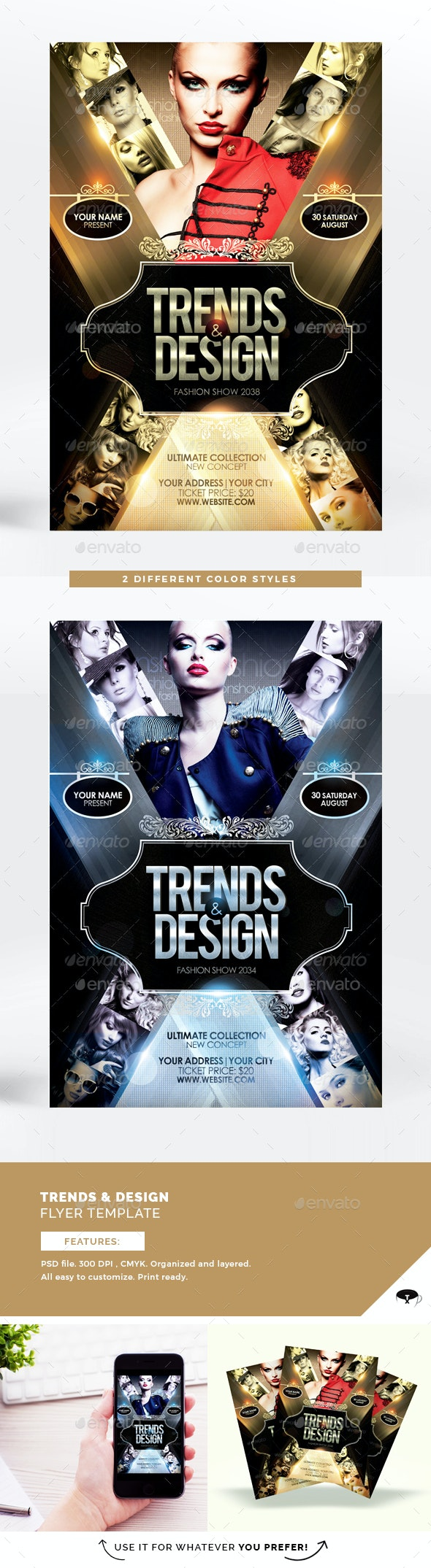 Trends & Design Flyer Template - Miscellaneous Events