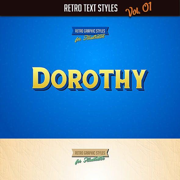 10 Retro Text Styles vol. 01