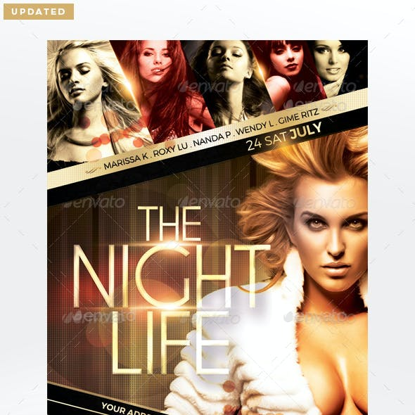 The Night Life Flyer Template