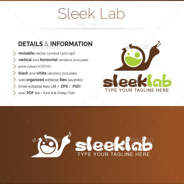 Sleek Lab - Logo Template
