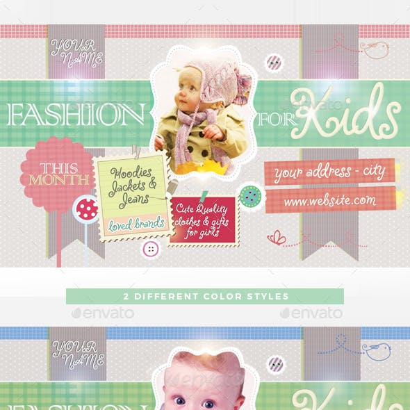 Fashion For Kids Flyer Template