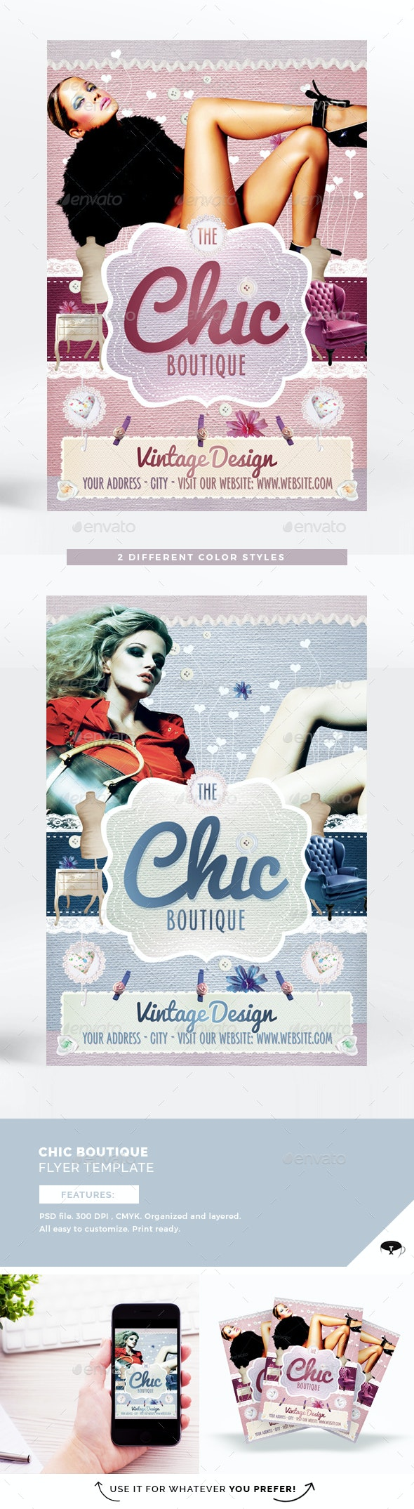 The Chic Boutique Flyer Template - Miscellaneous Events