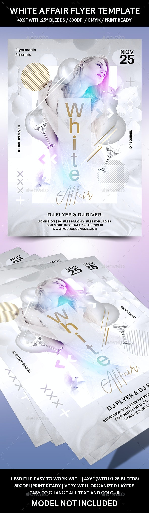White Affair Flyer Template - Events Flyers