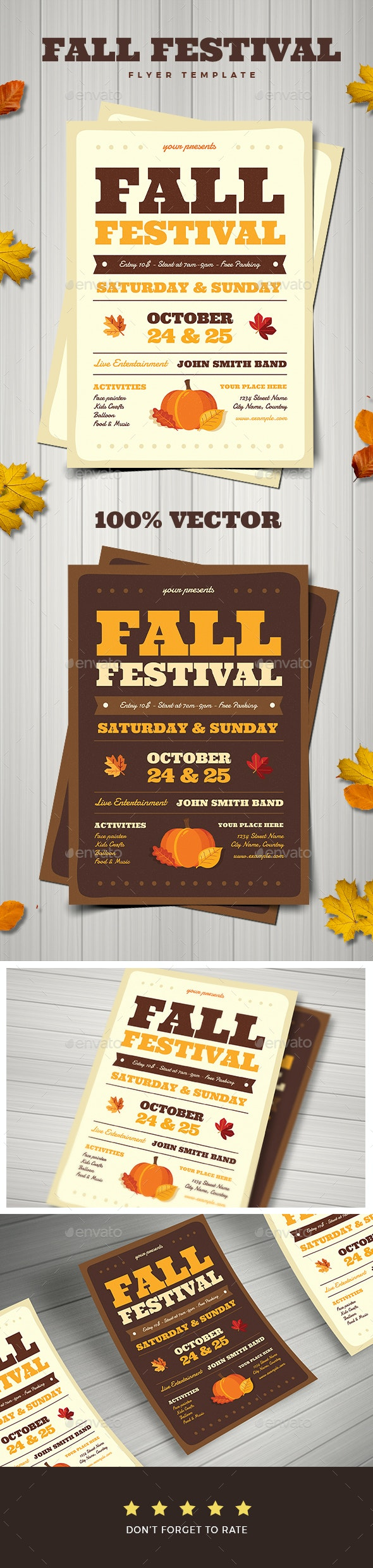 Fall Festival Flyer - Holidays Events
