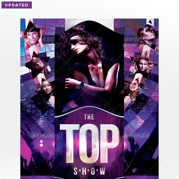 The Top Show Flyer Template