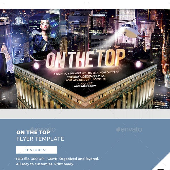 On The Top Flyer Template
