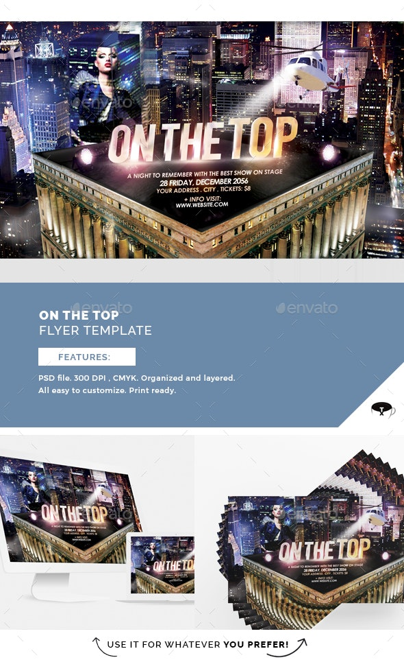 On The Top Flyer Template - Clubs & Parties Events