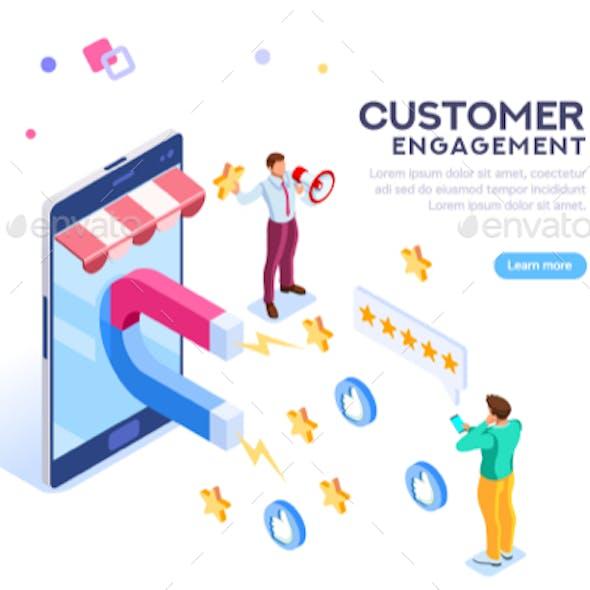 Customer Engagement for Like or Star