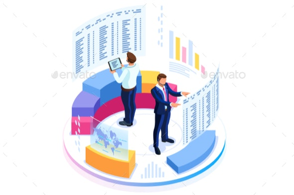 Financial Consulting for Business Banner - Concepts Business
