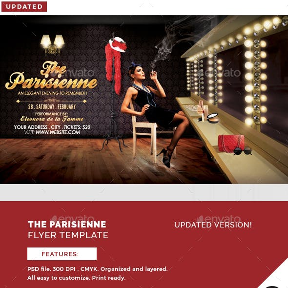 The Parisienne Flyer Template
