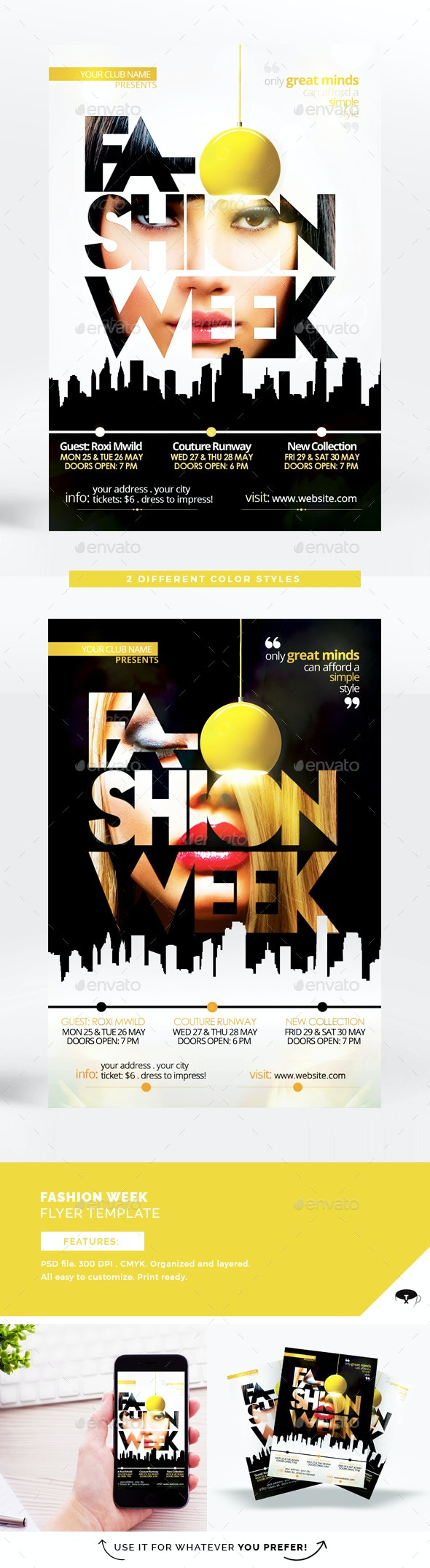 Fashion Week Vol 2 Flyer Template - Events Flyers