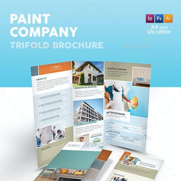 Paint Company Trifold Brochure