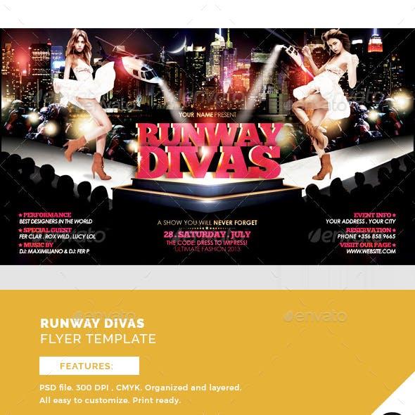 Runway Divas Flyer Template