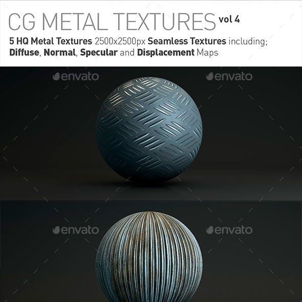 5 Metal Textures for CG Artists Vol 4