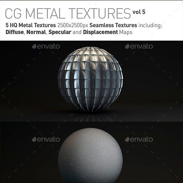 5 Metal Textures for CG Artists Vol 5