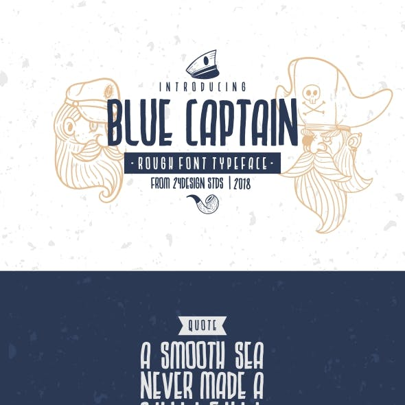 Blue Captain Rough Font