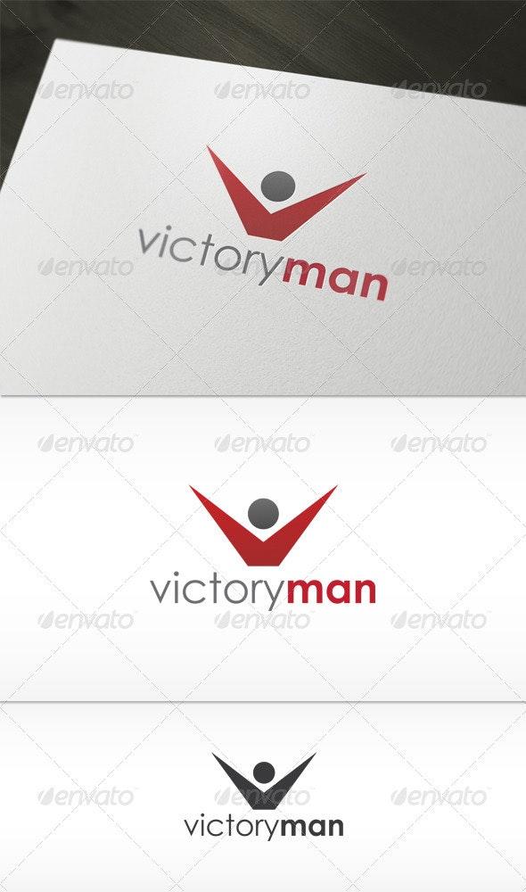Victory Man Logo - Humans Logo Templates